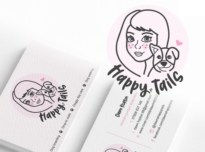 Logo design and Branding for Happy Tails by Laura Hodgkinson Creative, North Wales graphic design