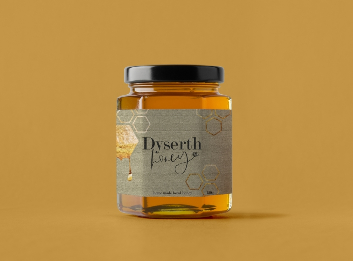Packaging design for Dyserth Honey by Laura Hodgkinson Creative, North Wales graphic design