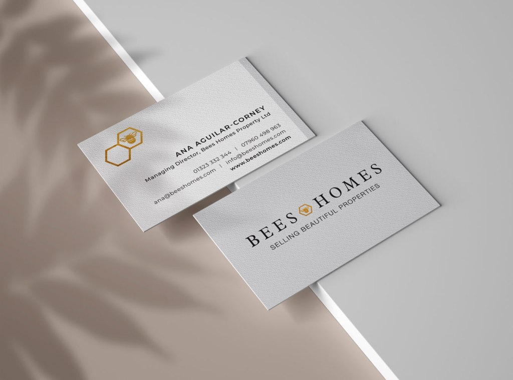 Logo design and Branding for Bees Homes by Laura Hodgkinson Creative, North Wales graphic design
