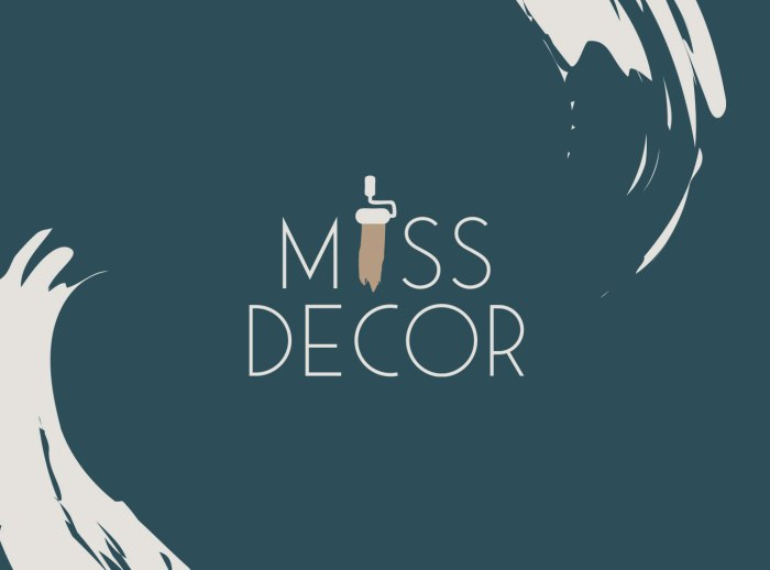 Logo design and Brand identity for Miss Decor by Laura Hodgkinson Creative, North Wales graphic design services