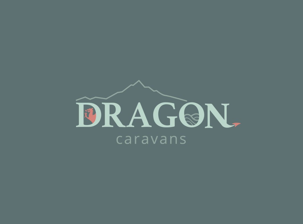 Dragon Caravans Logo design and Brand Identity by Laura Hodgkinson Creative - Graphic Design in North Wales